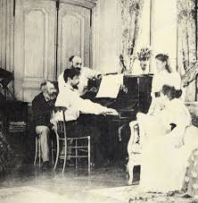 Debussy at the piano